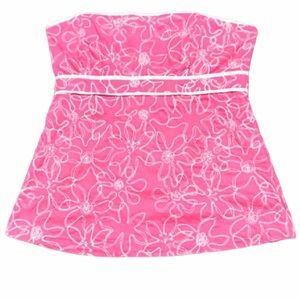 NWOT Lilly Pulitzer EMBROIDERED strapless top (H)